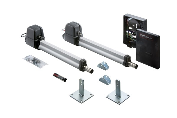 Sommer Twist 200E elektronischer Doppeltorantrieb Komplett-Set für Garten- und Einfahrtstore 2-flügelig