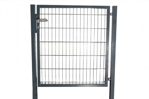 Gartentor / Zauntür Basic Plus Anthrazit Breite 125 cm (inkl. Pfosten) Höhe 200 cm