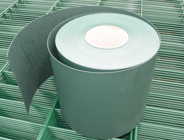 Sichtschutzstreifen für Stabmattenzaun Grün (Aus PP; Rolle a 35m; 19cm breit)