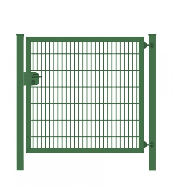 Elektrisches Gartentor Premium Plus 8/6/8 für Stabmattenzaun Moosgrün Breite 125cm x Höhe 200cm