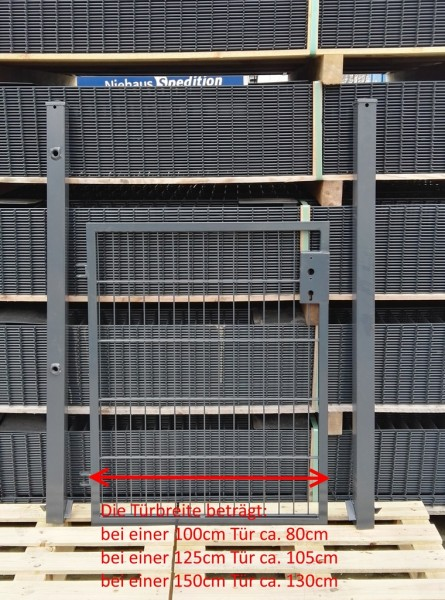 Elektrisches Gartentor Basic Anthrazit Breite (inkl. Pfosten) 125cm x Höhe 80cm