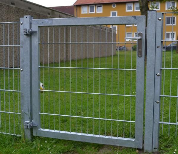 Gartentor / Zauntür Premium für Stabmattenzaun Breite 150 cm Höhe 100 cm Farbe Verzinkt
