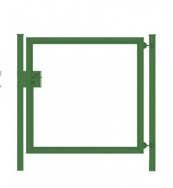 Gartentor / Zauntür Premium für waagerechte Holzfüllung; Grün; Breite 125cm x Höhe 80cm