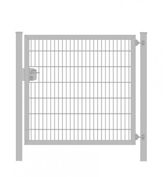 Gartentor / Zauntür Premium Plus 8/6/8 für Stabmattenzaun Verzinkt Breite 150cm x Höhe 200cm