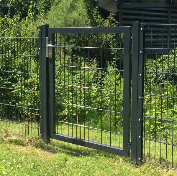 Elektrisches Gartentor Premium Breite 125cm x Höhe 100cm Anthrazit