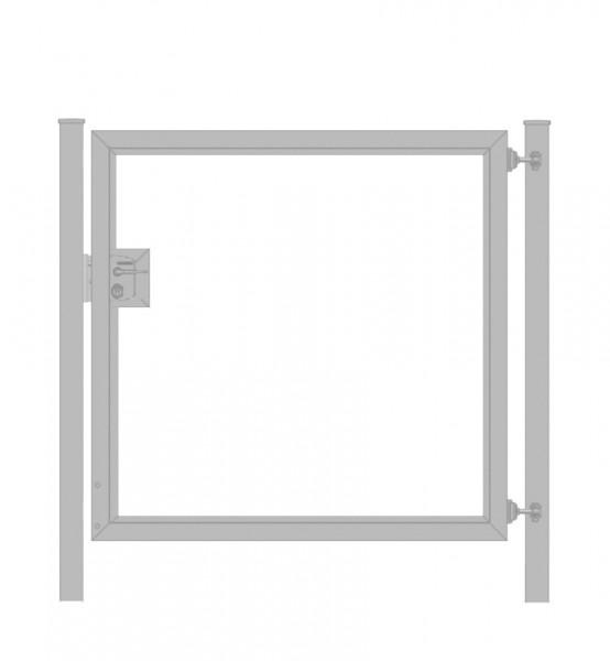 Gartentor / Zauntür Premium für waagerechte Holzfüllung; Verzinkt; Breite 125cm x Höhe 80cm