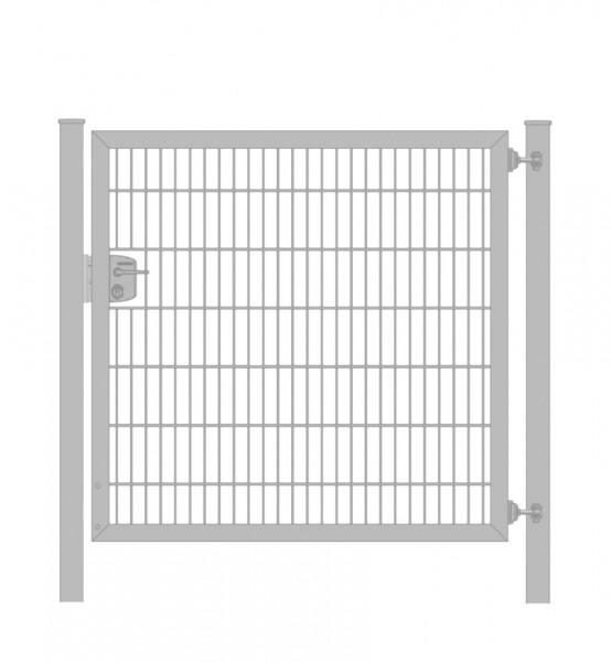 Gartentor / Zauntür Premium Plus 6/5/6 für Stabmattenzaun Verzinkt Breite 100cm x Höhe 100cm