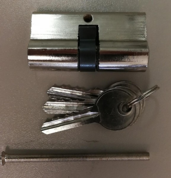 Schließzylinder 30 / 30mm mit 3 Schlüsseln