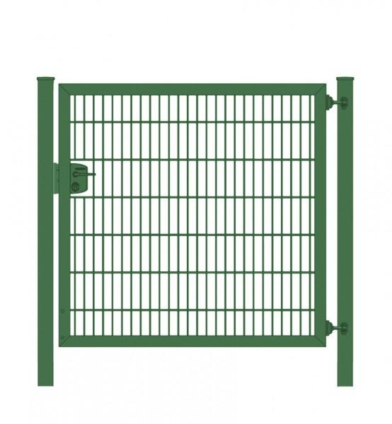 Elektrisches Gartentor Premium Plus 8/6/8 für Stabmattenzaun Moosgrün Breite 125cm x Höhe 180cm