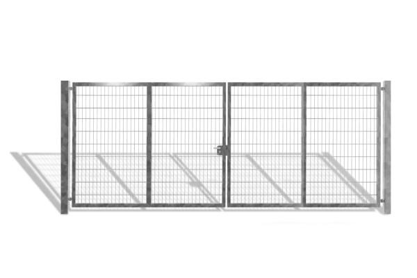 Industrietor / Doppelstabmattentor verzinkt / 2-Flügelig / Breite 700 cm x Höhe 200 cm