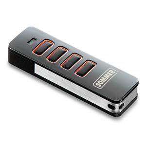 4-Befehl Handsender (4018V020) Pearl schwarz / rot für Twist Drehtorantriebe
